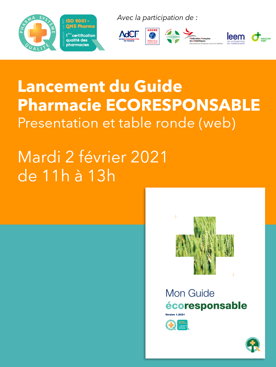 Pharmacie ECORESPONSABLE : PHSQ s'engage !